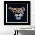 lioness pastel painting wildlife original art by Julie Rhodes