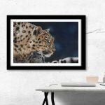 leopard interior design artwork Julie Rhodes