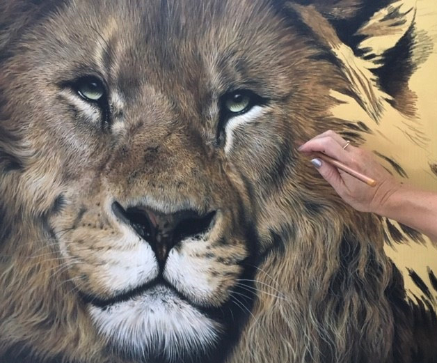realism lion drawing hyperrealism, photorealism art, how to draw