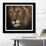 african lion art painting