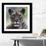 lioness wall art pastel artists drawing