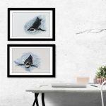 interior design ideas artwork penguin