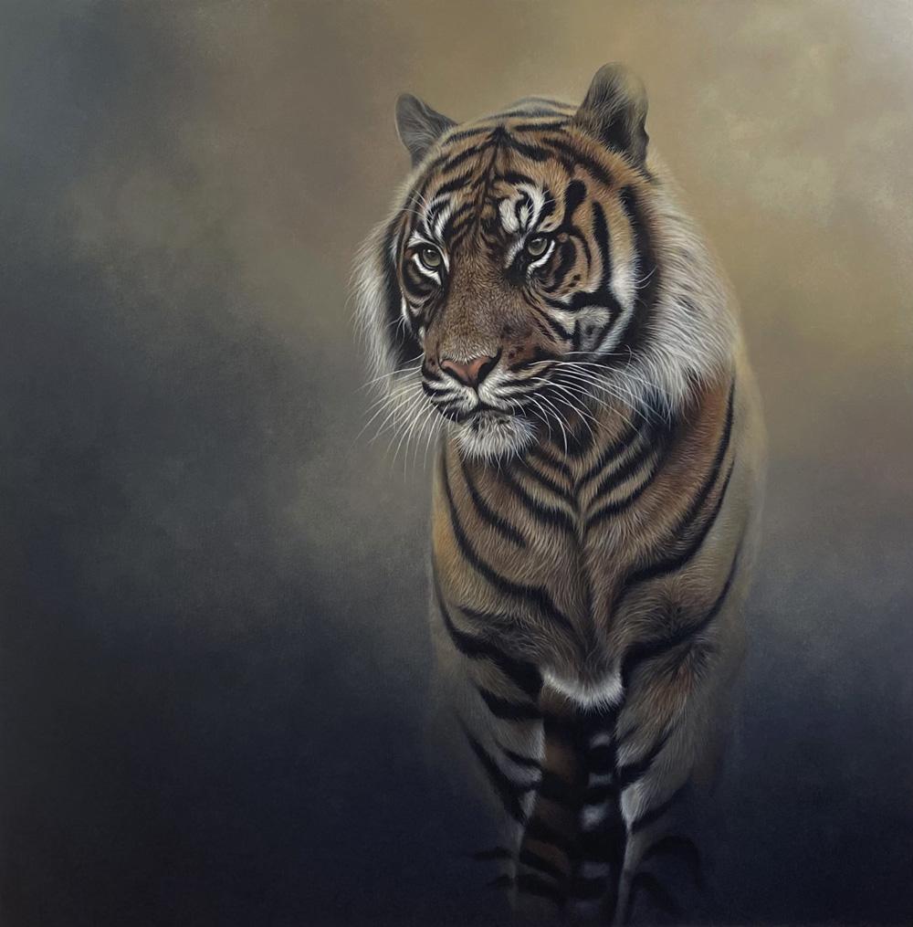 spirit tiger painting acrylic on canvas