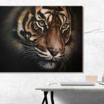 tiger painting art interior design